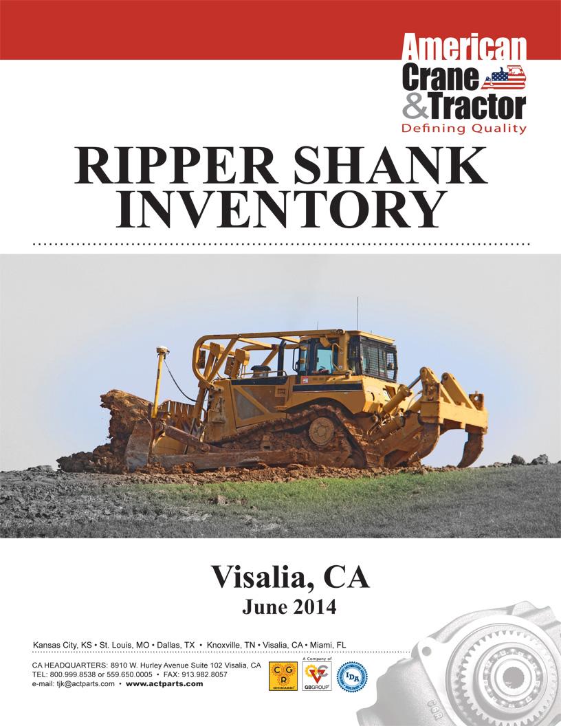 Visalia Ripper Shank Inventory